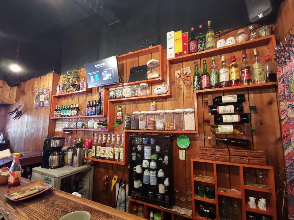 cafe yamanekoのカウンターから見える景色