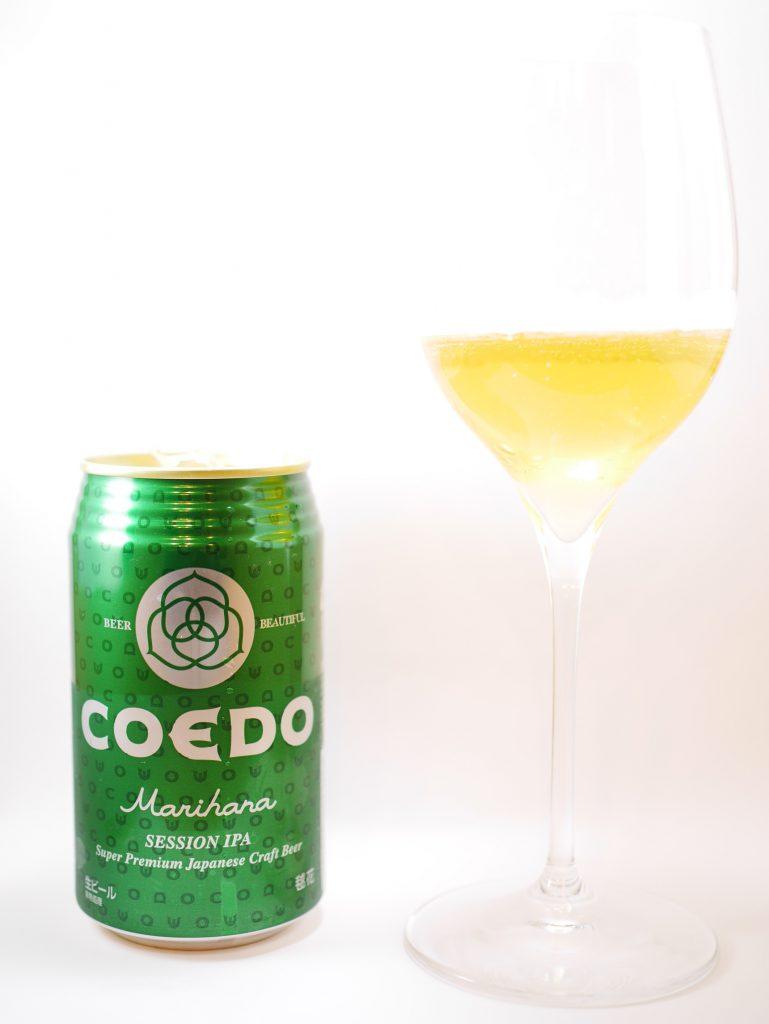 COEDO_毬花_缶とグラス