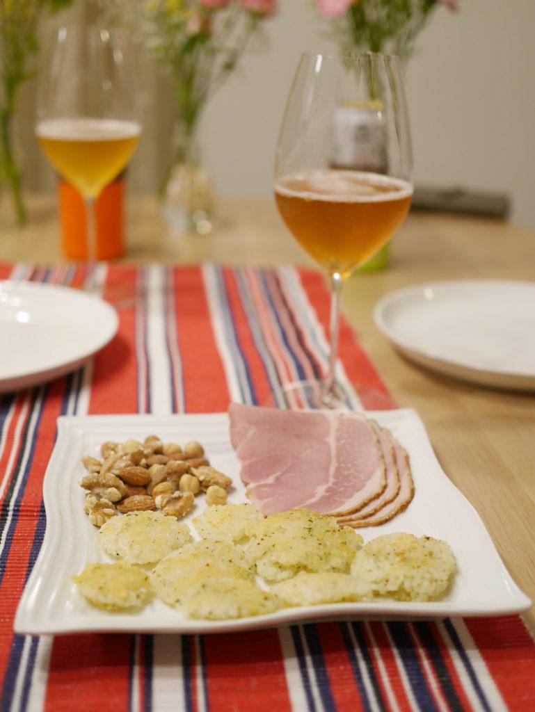 超絶簡単チーズお焼きとビール