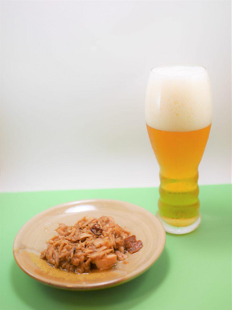 ガーリックツナとビール
